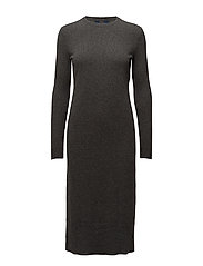 Wool-Cashmere Midi Dress - ANTIQUE HEATHER
