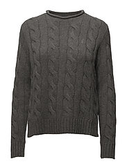 Cable Wool-Cashmere Sweater - ANTIQUE HEATHER