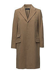 Wool-Blend Chesterfield Coat - CAMEL