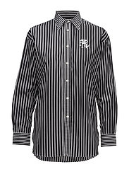 Y/D STRIPES-LSL-SHT - 454 POLO BLACK/ W