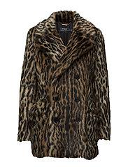 Ocelot-Print Faux Fur Coat - OCELOT MULTI