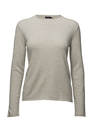Cashmere Rollneck Sweater - STONE GREY HEATHER