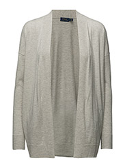 Open-Front Cardigan - STONE GREY HEATHER