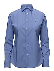 Stretch Slim Poplin Shirt - FRENCH BLUE