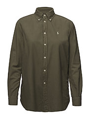 Relaxed Fit Oxford Shirt - BASIC OLIVE