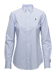 Striped Stretch Slim Fit Shirt - 556A SPRING BLUE/