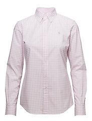 Slim Fit Gingham Poplin Shirt - 566C PINK/WHITE