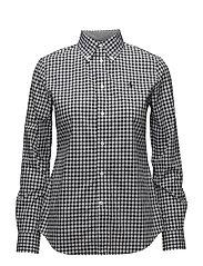 Slim Fit Gingham Poplin Shirt - 566D BLACK/WHITE