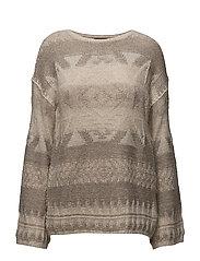 Southwestern Wool Sweater - TAN MULTI
