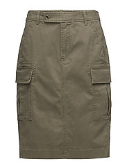 Stretch Twill Cargo Skirt - BASIC OLIVE