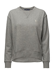 Fleece Crewneck Sweatshirt - ANDOVER HEATHER