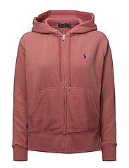 Lightweight Fleece Hoodie - SUN RED