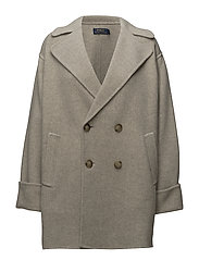 Double-Breasted Merino Coat - NATURAL HEATHER
