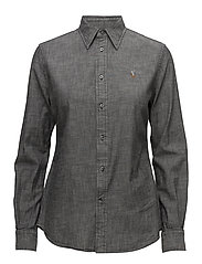 Slim Fit Chambray Shirt - SULFUR BLACK