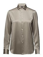 Silk Charmeuse Shirt - DESERT GREY
