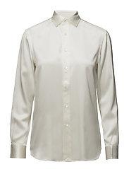 Silk Charmeuse Shirt - TROPHY CREAM