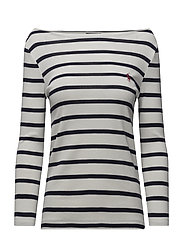 Striped Boatneck T-Shirt - NEVIS/AVIATOR NAV