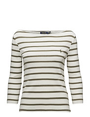 Striped Boatneck T-Shirt - NEVIS/BASIC OLIVE