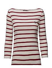Striped Boatneck T-Shirt - NEVIS/MARTIN RED