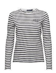 Striped Long-Sleeve T-Shirt - CRUISE NAVY/NEVIS