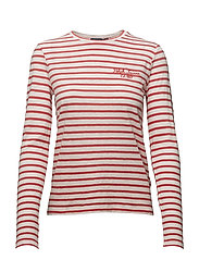 Striped Long-Sleeve T-Shirt - TOMATO/DECKWASH W