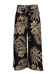 Linen-Blend Wide-Leg Pant - HAWAIIAN FLORAL