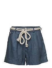 Linen Shorts - INDIGO