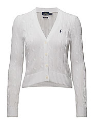 Cotton Cable Cardigan - WHITE