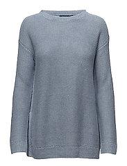 Linen Crewneck Sweater - CHAMBRAY