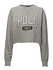 Polo Cropped Fleece Sweatshirt - ANDOVER HEATHER