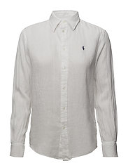 Relaxed Fit Button-Down Shirt - WHITE