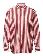 Bengal-Stripe Cotton Shirt - 601 TOMATO/WHITE