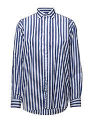 Bengal-Stripe Cotton Shirt - 602 MAIDSTONE BLU