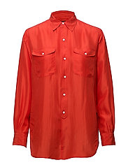 Silk Shirt - TOMATO