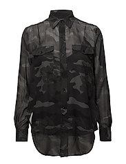 Silk Camo Button-Down Shirt - JUNGLE CAMO