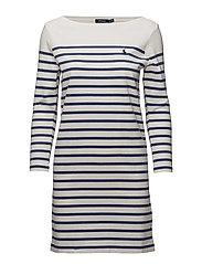 Striped Jersey Dress - NEVIS/LIGHT NAVY