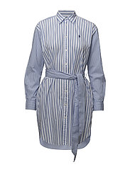 Striped Cotton Shirtdress - CHOPIN BLUE/WHITE