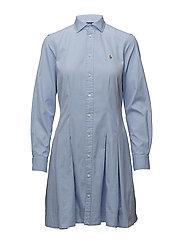Oxford Cotton Shirtdress - BLUE HYACINTH
