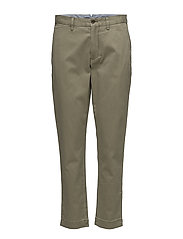 Stretch Twill Cropped Pant - BASIC OLIVE
