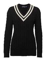Cricket Cotton Sweater - BLACK/CREAM
