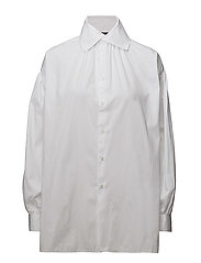Cotton Button-Down Shirt - WHITE