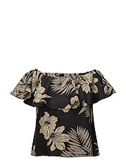 Floral Off-the-Shoulder Top - HAWAIIAN FLORAL