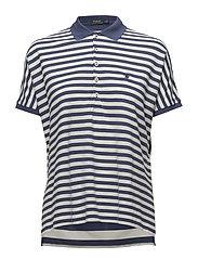 Striped Poncho Mesh Polo Shirt - DECKWASH WHITE/LI