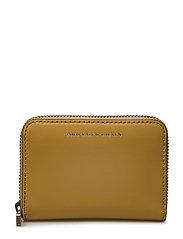 Leather Small Zip Wallet - OCHRE
