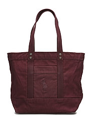 Canvas Big Pony Tote - BORDEAUX