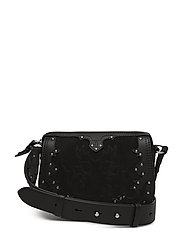 SUEDE WESTERN APPLI-MINI BAG-CXB-MI - BLACK MULTI