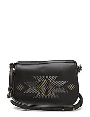 MICROSTUD LEATHER-MINI BAG-CXB-MIN - BLACK