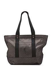 METALLIC FABRIC-PP TOTE-TTE-LRG - SILVER