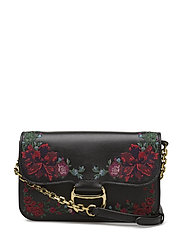EMBROIDERED LEATHER-CLUTCH-CLT-SMA - BLACK