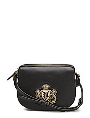 SMTH LTHR GOLD CRST-BUL MINI BAG-CX - BLACK